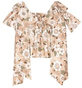 Chloé Printed cotton crop-top