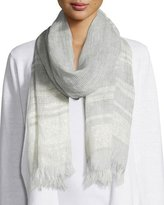 Eileen Fisher Linen Whimsy Scarf, Silver