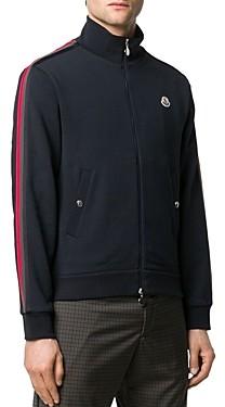 Moncler Cotton Signature Stripe Regular Fit Full Zip Sweatshirt