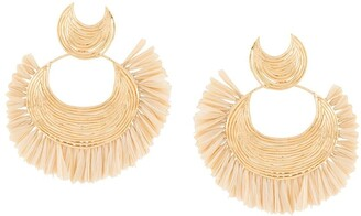Gas Bijoux Luna Wave raffia earrings