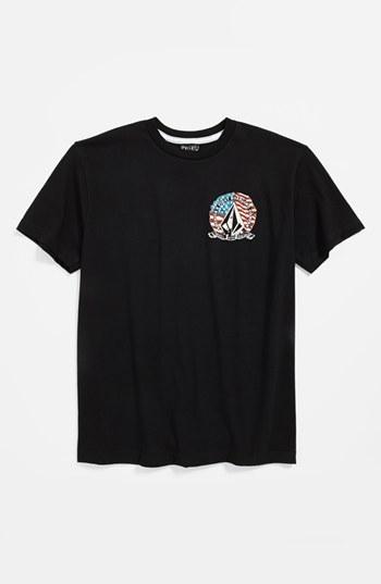 Volcom 'Perfect Onion' T-Shirt (Little Boys & Big Boys) Black Large