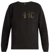 Oamc Logo-print crew-neck cotton sweater