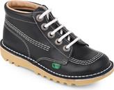 Kickers Kick hi leather shoes 7-9 years