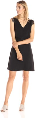 Paris Sunday Women's Lace Cap Sleeve A-line Dress
