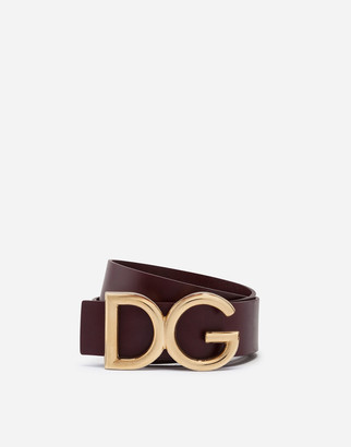 Dolce & Gabbana Dauphine Leather Belt