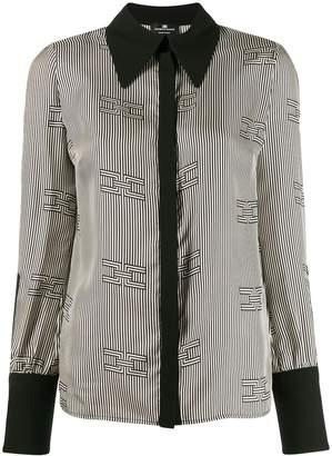 Elisabetta Franchi geometric monochrome blouse