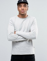 Jack & Jones Knitted Crew With Raw Neck