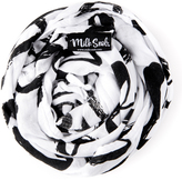 Black & White 'Made With Love' Swaddle & Car Seat Cover