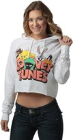 Freeze Juniors womens Looney Tunes Juniors Cropped Pullover Hooded Sweatshirt