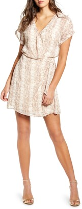 ALL IN FAVOR Simone Floral Wrap Front Minidress