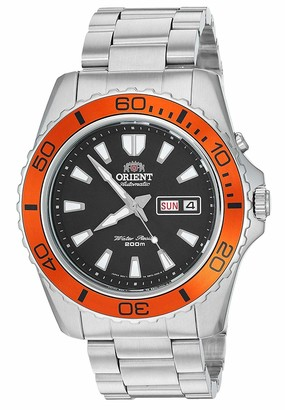 Orient Men's Mako XL Japanese Automatic Sport Watch with Stainless Steel Strap Silver 21.7 (Model: FEM75004B)