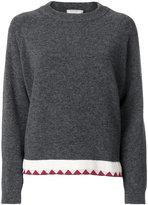 MAISON KITSUNÉ contrast pullover