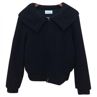 Tsumori Chisato Black Wool Leather Jacket for Women