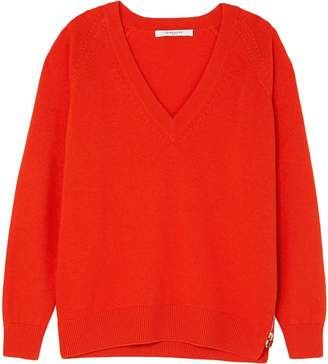 Givenchy Zip-detailed Wool And Cashmere-blend Sweater