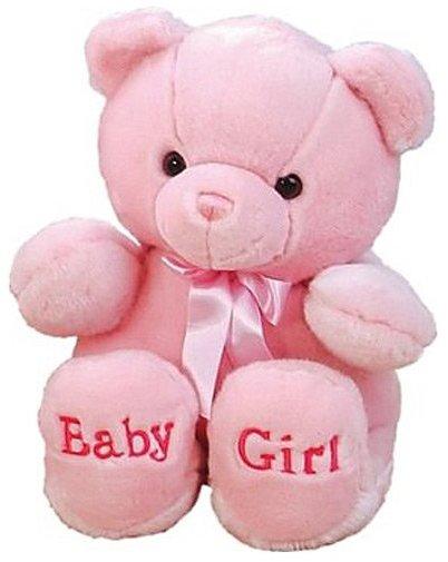 "Aurora Plush Baby Comfy Pink Baby Girl Bear 18"""