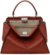 Fendi Red Regular Peekaboo Bag