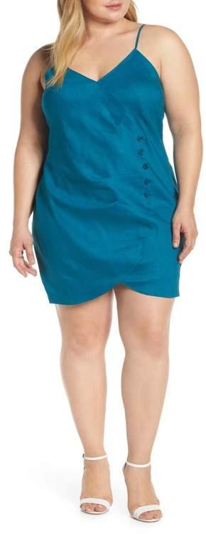 Faux Wrap Minidress (Plus Size)