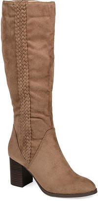Journee Collection Womens Gentri Extra Wide Calf Over the Knee Boots Stacked Heel