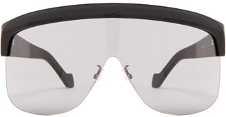 Loewe Visor Acetate Sunglasses - Mens - Black