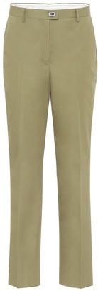 Salvatore Ferragamo High-rise straight cotton pants