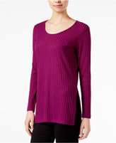 Kensie Ribbed Long-Sleeve Top