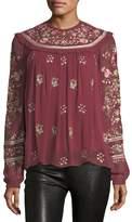 Needle & Thread Victorian Folk Long-Sleeve Georgette Blouse