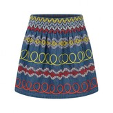 Stella McCartney KidsGirls Blue Embroidered Denim Skirt