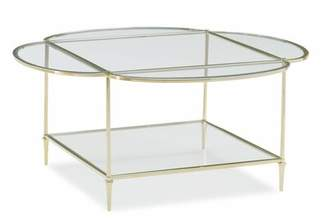 Caracole Classic Glass Top Coffee Table Caracole Classic