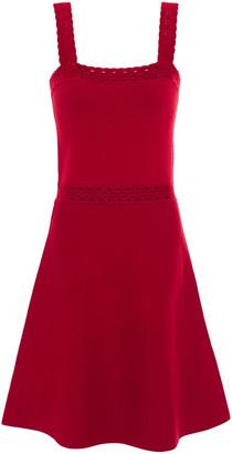 Sandro Alyson Pointelle-trimmed Stretch-knit Dress