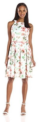 Julian Taylor Women's Floral Printed Trapeze Dress