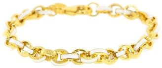 BUDDHA MAMA 20kt Yellow Gold And Enamel Chain Link Bracelet