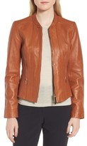 BOSS Women's Sabiza Leather Jacket