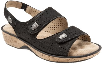 SoftWalk Perferated Leather Adjustable Sandals- Bolivia