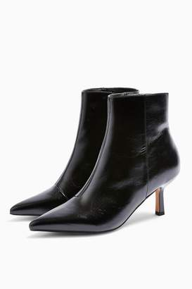 Topshop Womens Maci Black Point Ankle Boots - Black