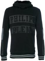 Philipp Plein mesh lettered hoodie - men - Cotton/Polyester - S
