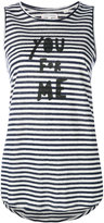 Chinti and Parker striped slogan tank top