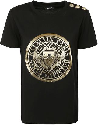 Balmain Shoulder-embellished T-shirt