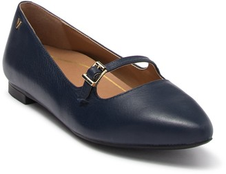 Vionic Delilah Leather Mary Jane Flat - Wide Width Available