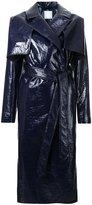 CHRISTOPHER ESBER caped trench coat - women - Silk/Cotton/Polyurethane - 6