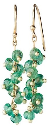 Ten Thousand Things 18K Yellow Gold & Emerald Signature Short Spiral Beaded Earrings