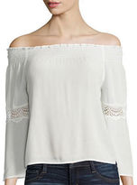 Arizona 3/4-Sleeve Off-The-Shoulder Blouse - Juniors