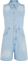 MM6 MAISON MARGIELA Frayed denim playsuit