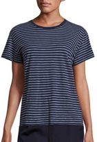 Vince Striped Pima Cotton T-Shirt