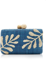 Kayu Noreen Embroidered Raffia Clutch