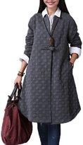Mordenmiss Women's Long Sleeve One Button Trench Coat