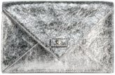 Milly Handbags - Gold or Silver Lola Collection Envelope Clutch