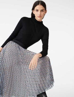 Maje Lurex jacquard print skirt