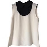 Miu Miu White Silk Top