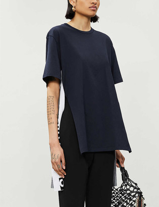 Stella McCartney Logo side cotton-jersey T-shirt
