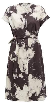 Sea Ione Tie-dye Cotton-blend Shirtdress - Womens - Black White
